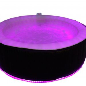 Uppblåsbart spabad med inbyggd belysning (6 pers)