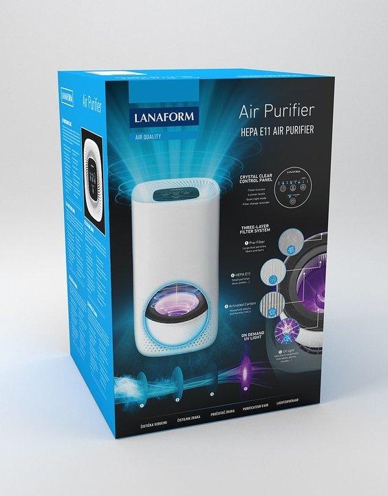 Lanaform Luftrenare med 3-stegs-filtrering